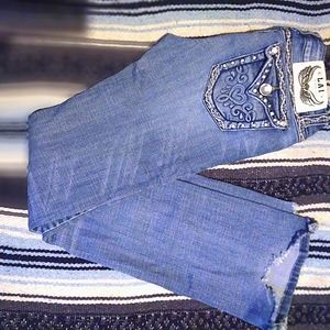Very pretty embellished heart pattern jeans